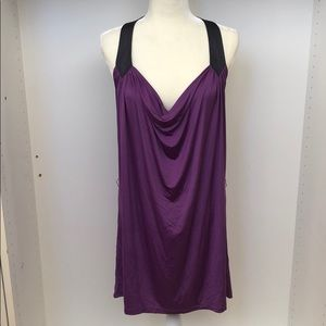 NEW BCBGeneration Oversized Purple Halter Dress L
